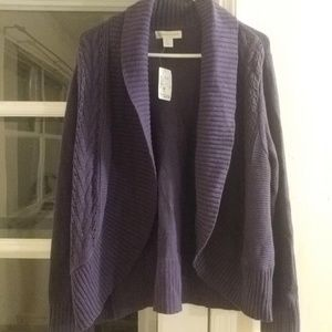 Christopher & Banks purple sweater. XL. NWT.